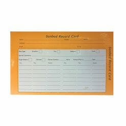 Direct Salon Supplies Sunbed Record Cards Pack 100