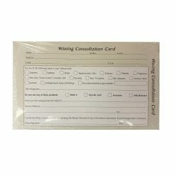 Direct Salon Supplies Waxing Consultation Cards Pack 100